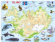 Map of Iceland/ Island with Animals - Frame/Board Jigsaw Puzzle 29cm x 37cm (LRS  K7-IS)